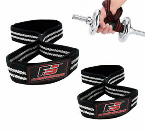 Best-FIGURE-8-PADDED-Cuff-Strap-Weight-Lifting-TRAINING-Gym-STRAPS-Hand-Bar-GRIP