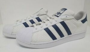 tengo sueño Alegrarse jurar  MEN'S ADIDAS ORIGINALS SUPERSTARS WOVEN WHITE BLUE TRAINER S41991 | eBay