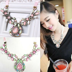 Charm fashion jewelry pendant chain crystal choker chunky statement image is loading charm fashion jewelry pendant chain crystal choker chunky aloadofball Image collections