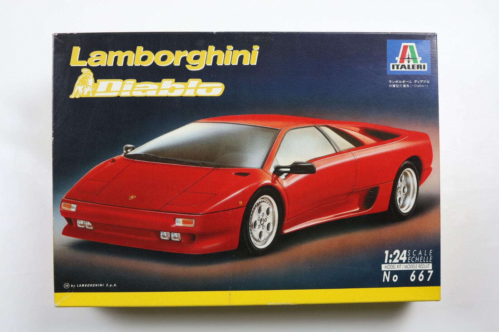 ITALERI LAMBORGHINI DIABLO ROSSA 1990 1 24 AUTO CAR PLASTIC KIT VINTAGE