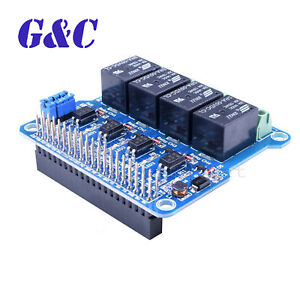 4-Channel Relay Shield Module extension board for Raspberry Pi A+ B ... 308f2451841c
