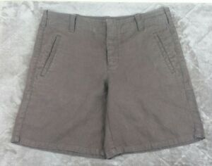 Gap-Womans-100-Linen-Brown-Pockets-Size-8-Shorts-Casual-Walking-Button-Fly-AA