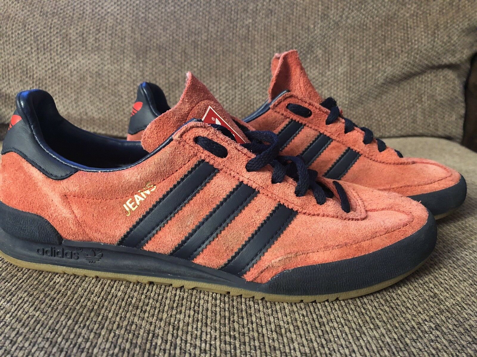 Adidas Jeans Mk2 Trainers 5 Uk Burnt orange navy In Immaculate Condition