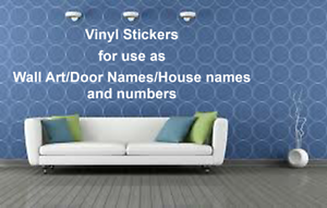 Custom Personalised Name//Word Cut-Vinyl Decal 8 Fonts Sticker