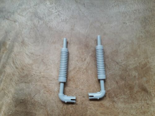 Lego Exhaust Pipe With Technic Pin Flat End Part No 14682 Light Bluish Grey x 2
