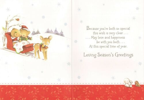 3 x cards to choose from! cute SISTER AND HER BOYFRIEND christmas card