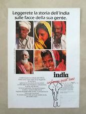 D389 - Advertising Pubblicità- 1988 - INDIA ANDIAMOCI QUEST'ANNO