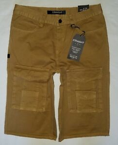 563febf590 Mens *NEW* with tags rocawear blak straight fit tan cargo shorts sz ...