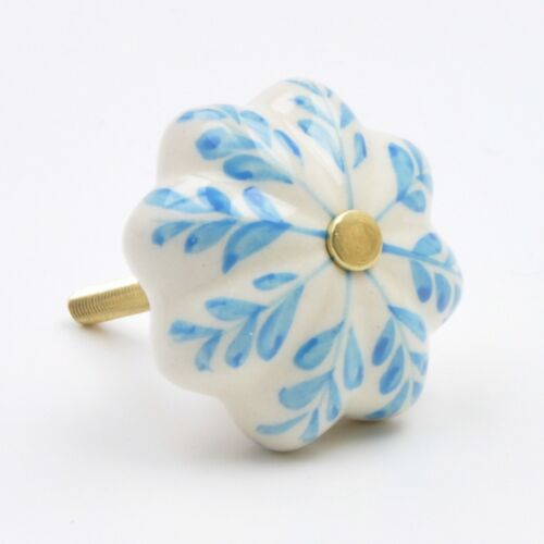 Doors Pull Handle for Cupboards Cabinets Flower Painted Ceramic Knob Drawe