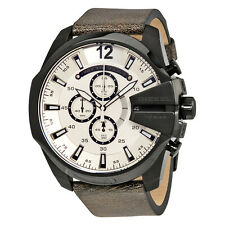 Diesel Mega Chief White Sunray Dial Mens Chronograph Watch DZ4422