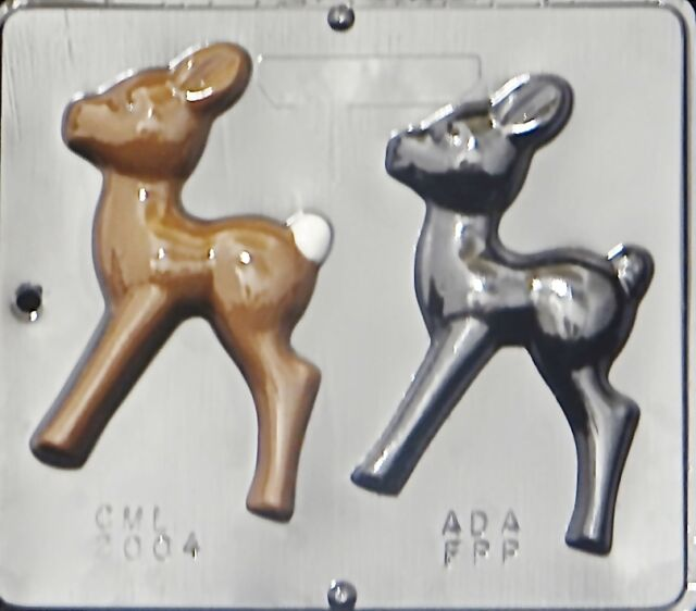 "6"" Reindeer Chocolate Candy Mold Christmas  2004 NEW"