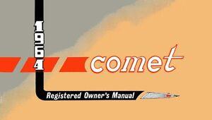 1964 mercury comet owners manual user guide reference operator book rh ebay com 1965 Comet 1962 Comet