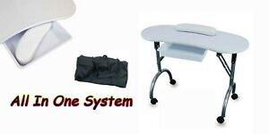 White-Nail-Table-Portable-Foldable-Travel-Manicure-Work-Station