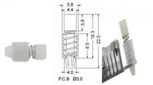 Tuneway 50Pcs PC Heatsink Cooling Fan Spring Rivet Fastener Push Pin Mounting Screw