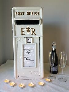 Image Is Loading Royal Mail Ivory Cast Iron Wedding Post Box
