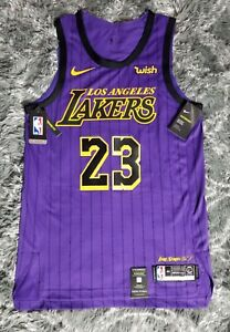 separation shoes f3f81 ab098 Details about Lakers Lebron james 44 medium Nike NWT Authentic pro cut  jersey city edition