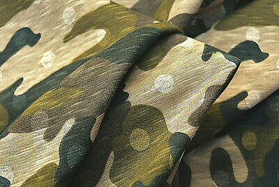 CAMOUFLAGE JERSEY PURE COTTON HIGH DEFINITION PREMIUM QUALITY MADE IN ITALY C169