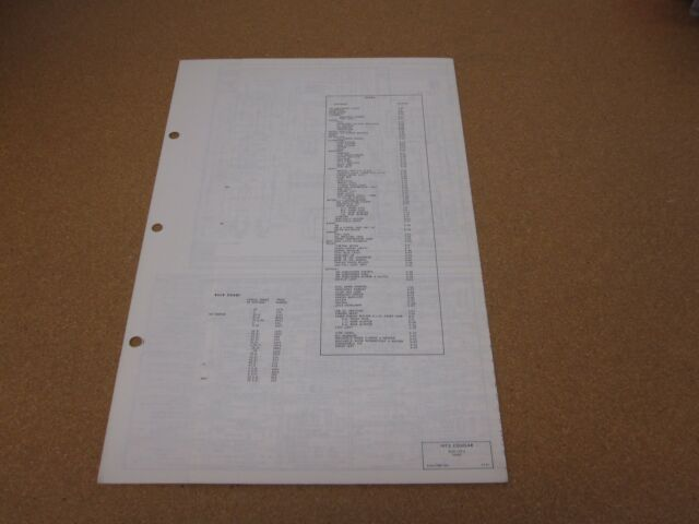 1972 Mercury Cougar Wiring Diagram Sheet Schematics Service Manual Original