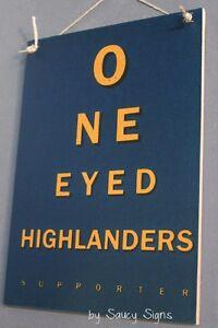 One Eyed Otago Highlanders Super Rugby Sign Kiwi New Zealand Football Sign
