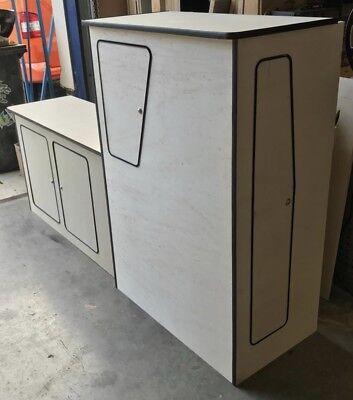 Free Overhead Shelf Mazda BONGO Camper Van LIGHTWEIGHT MDF 2-Door Kitchen Units
