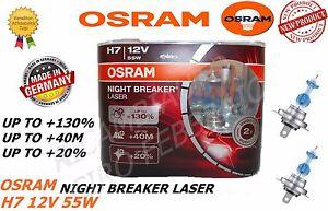 LAMPADE OSRAM NIGHT BREAKER LASER H7 12V 55W +130% LUCE BMW 3 Touring 99>00
