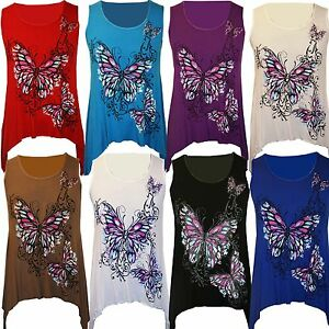 Ladies-Womens-Plus-Size-Butterfly-Print-Sleeveless-Waterfall-Long-Vest-Top-14-24