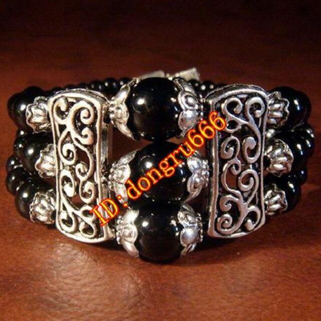 11 Fashion jewelry Tibet Tibetan silver ladies Lucky beads bracelet bangle 1