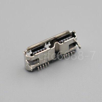 50Pcs Micro USB 3.0 Female 10-Pin SMD SMT Socket HI-Speed PCB Solder Connector
