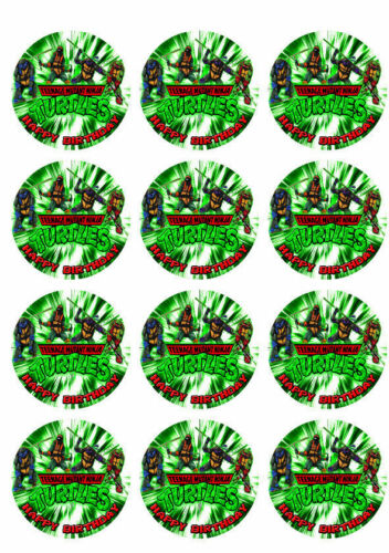 Teenage Mutant Ninja Turtles Personalized Edible Print Cake Topper Sheet 5 Sizes