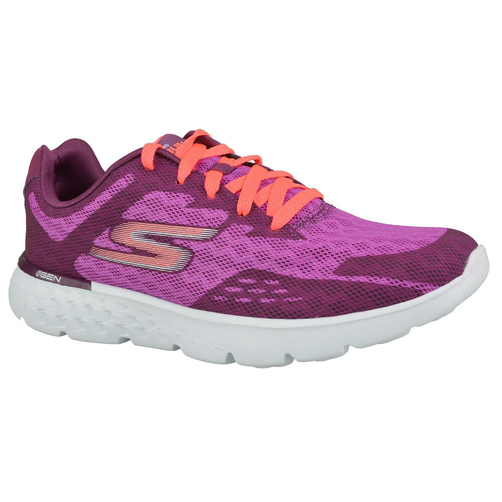 Descuento por tiempo limitado NEW SKECHERS Women Sneakers Gym Running Trainers Memory Foam GO RUN 400 violet