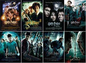 Harry Potter Movie Poster Collection Bundle Set Of 8 New 11x17 13x19 Ebay