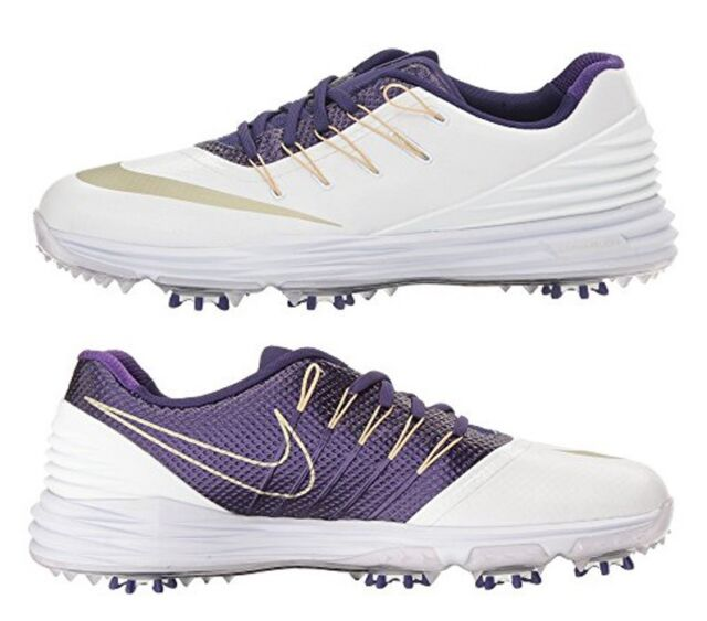 Nike Lunar Control 4 Womens Golf Shoes 8 5 New Uw Huskies White Purple 838116 For Sale Online