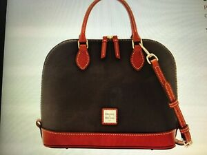 Handbag-purse-bag-Dooney-and-Bourke-Zip-Zip-Sacthel-Women-039-s-fashion-assessory