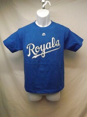 Weitere Ballsportarten Neu Kansas City Royals Majestic Jugendliche M 10/12 Blue Shirt