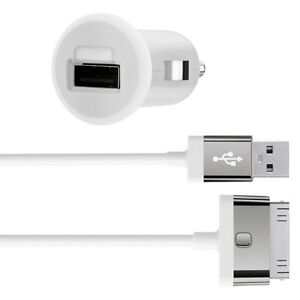 Belkin-mixit-iphone-4S-4-ipad-3-2-1-ipod-2-1Amp-10W-rapide-chargeur-voiture-cable-blanc