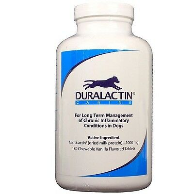 Duralactin Canine All Natural Joint Arthritis Support 1000 mg 180 Tabl