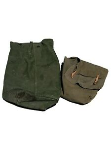 Lot-Of-2-Vintage-Official-Military-Bags-Collectible-Militaria