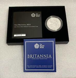2015 RM 1oz Silver Britannia Plain Fields £2 Coin - Brilliant Uncirculated Pack