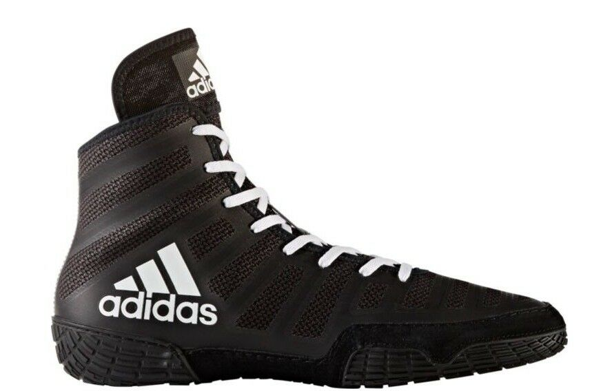 ADIDAS adizero VARNER 2 Wrestling Shoes MMA Boxing Black White pretereo BA8020