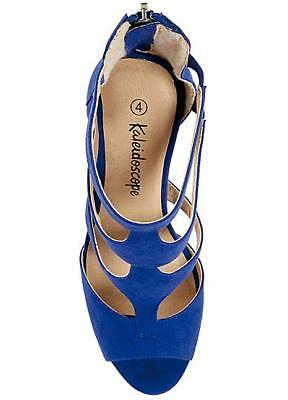 Caleidoscopio corte Peep Toe Tribunal Zapatos UK 4 EU 37 LN23 65