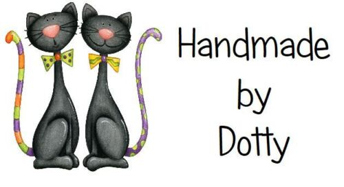 65 Personalised Mini Address labels Handmade etc Pair of Lucky Black Cats