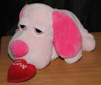 Russ Berrie & Co 14 Inch Pink Puppy Dog Soft / Plush Toy Beanie