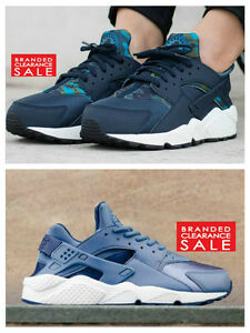 BNIB-New-Women-Nike-Air-Huarache-Run-Print-Navy-Obsidian-Ocean-blue-size-4-5-6