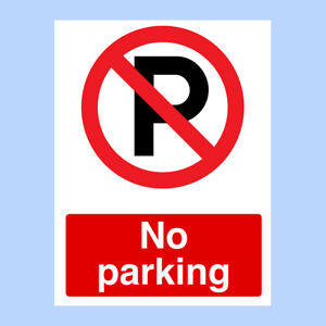 A4 METAL NO PARKING ACCESS REQUIRED GATES WARNING POLITE NOTICE DECALS STICKER