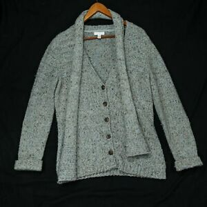 Charter-Club-Women-039-s-Knit-Wool-Blend-Cardigan-Sweater-2pc-Size-Medium