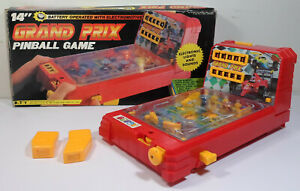 BOTOY 1991 14'' GRAND PRIX PINBALL PIN-BALL SKILL GAME w/ SOME FLAWS INCOMPLETE