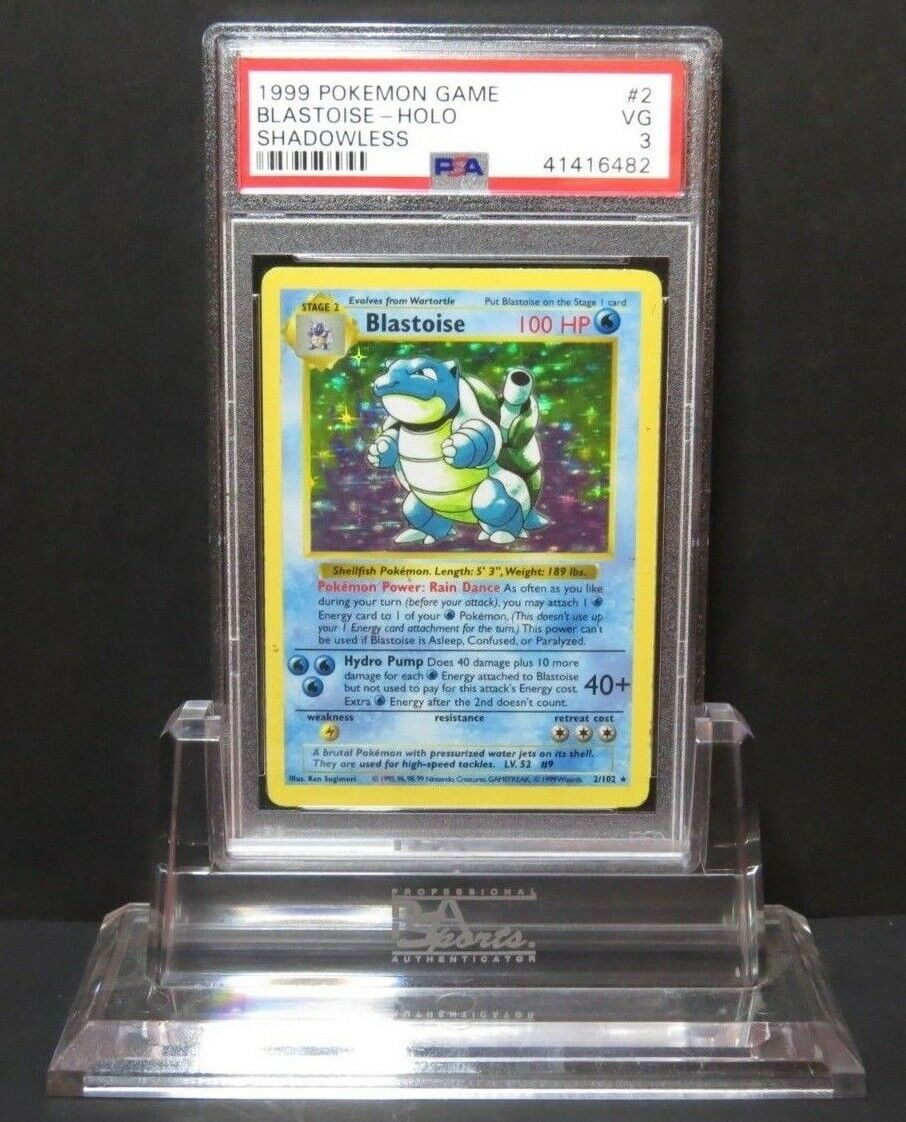 Shadowless Blastoise 2 102 - Base Set Pokemon Card PSA 3