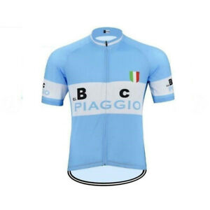 Mens Team Retro BC Piaggio Cycling Jerseys Short Sleeve