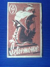 5. Vintage Label with of matches - Etykiety z zapalek