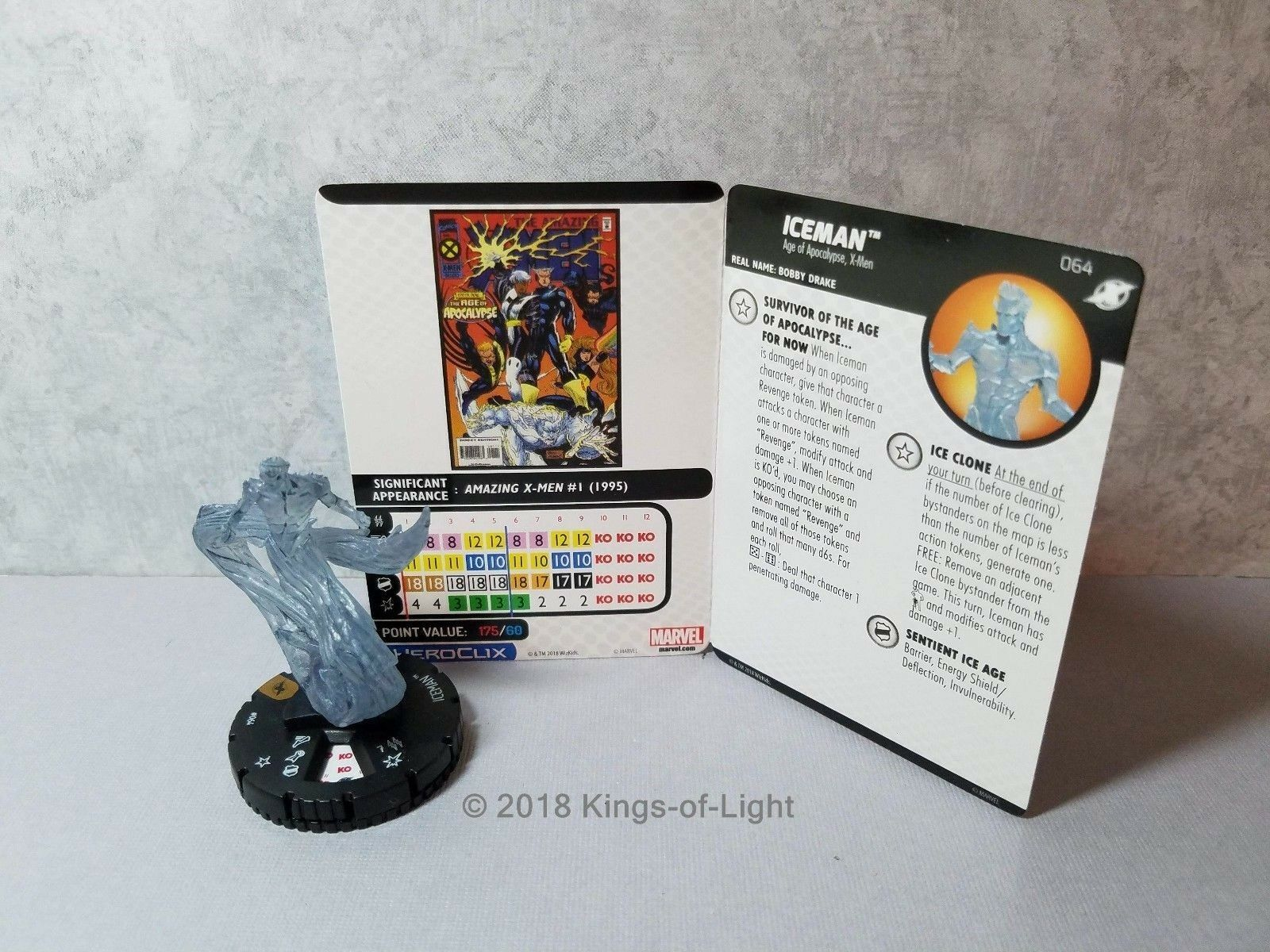 Iceman - 064 Marvel X-Men Xavier's School HeroClix Miniature Chase